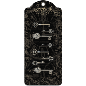 GRAPHIC 45 - Shabby Chic Ornate Metal Keys