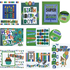 Birthday BOY Card Class