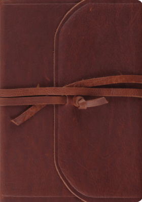 Journaling Interleaved  Bible - Brown Leather