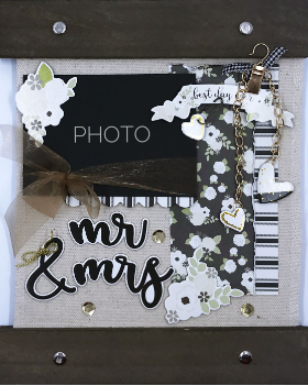 Mr & Mrs Canvas Home Decor Kit