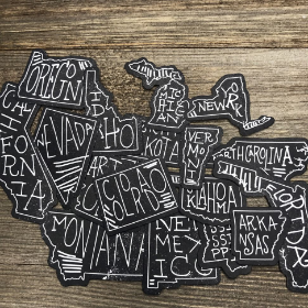 50 States DieCut Pieces