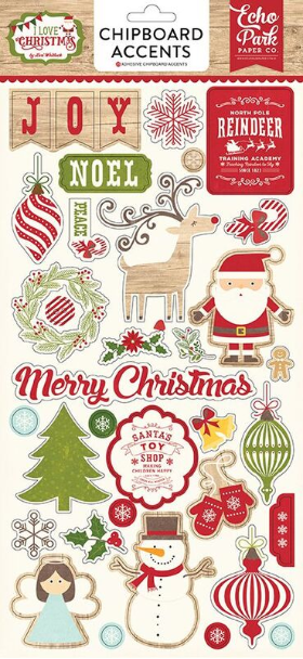 I LOVE CHRISTMAS - Chipboard