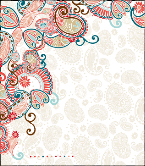 NoteBook Journal - Santa Fe Paisley with Coral