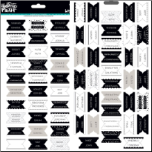 STICKERS - Bible Tabs Black&White
