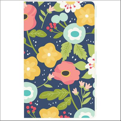 Traveler's Notebook Insert  NAVY FLORAL