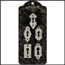 GRAPHIC 45 -Shabby Chic Ornate Metal Key Holes
