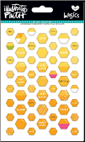 EPOXY STICKERS - Yellow Hexagons