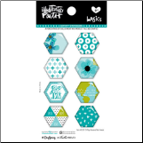 EPOXY STICKERS - Teal Large Hex