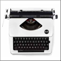 White Typewriter