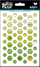 EPOXY STICKERS - Green Hexagons