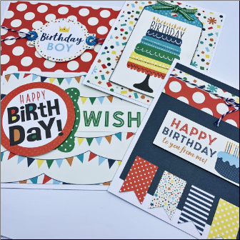 Alternate BOY Birthday Card Set