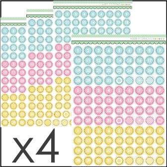 WRITE IT DESIGNS - Number Soft Sticker Set