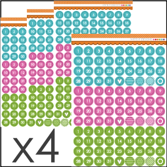 WRITE IT DESIGNS - Number Bright11 Sticker Set